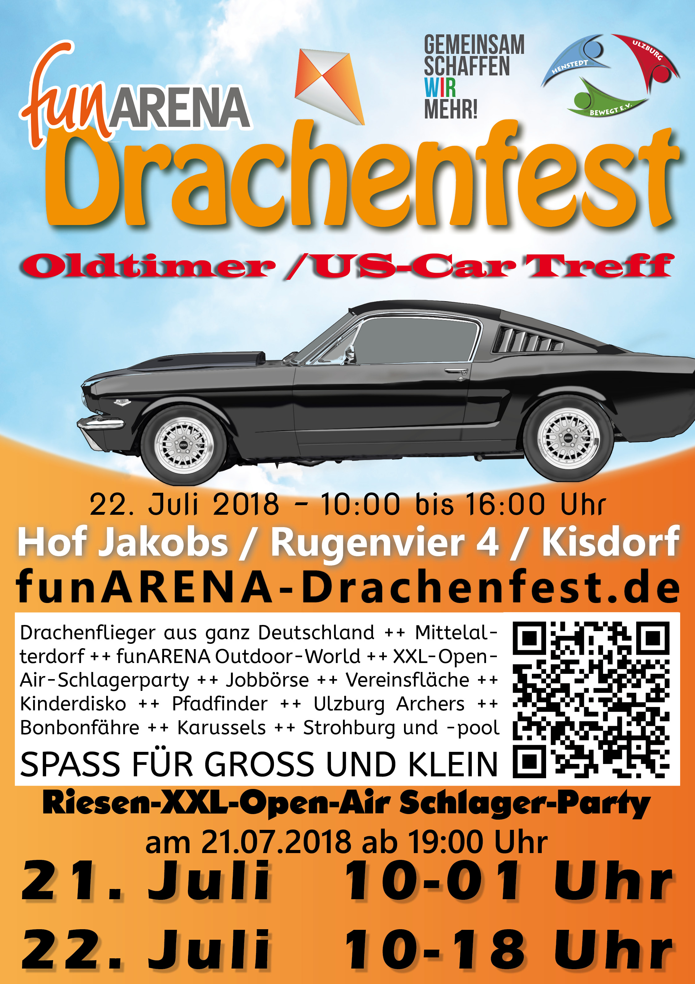 5 funarena drachenfest mit open air schlagerparty jobb rse und car treff henstedt ulzburg. Black Bedroom Furniture Sets. Home Design Ideas